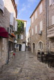 view of street in old town (Budva, Montenegro) poster