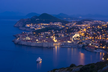 view of Dubrovnik at dawn