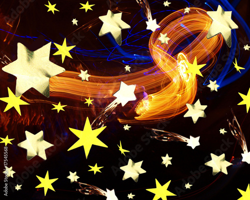 christmas abstract stars background