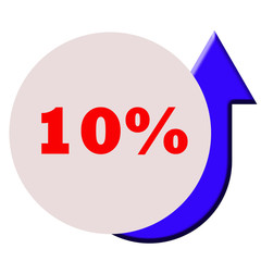 Ten percent increase