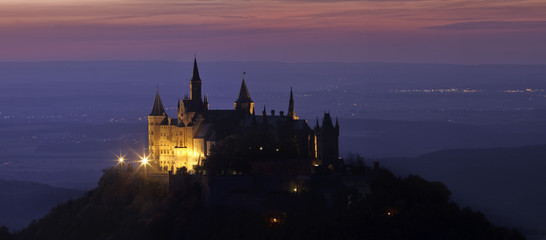 Castle Hohenzollern after sunset