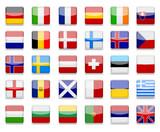 Fototapety Erurope Flags