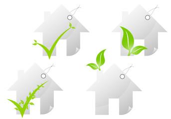 Etiquettes maison écologique
