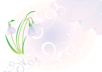 vector background with snowdrops