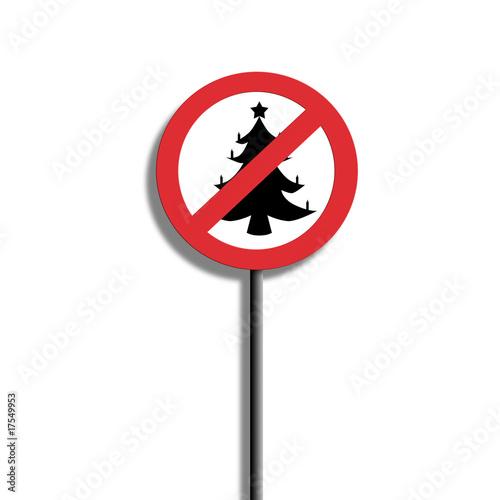 weihnachten verboten schild von klick klick lizenzfreies