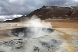 Geothermal activity in Iceland poster