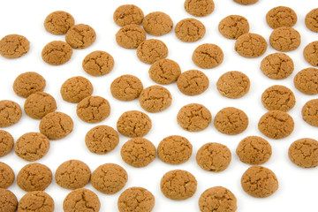 pepernoten (ginger nuts)  over white background