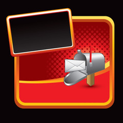 Mailbox on red halftone advertisement