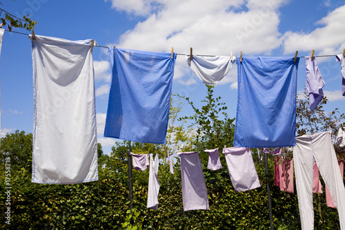 clothes drying on the ropes