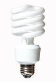 CFL lightbulb isolated on white