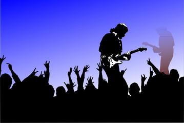 ..im Konzert...