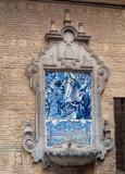Décoration en mosaique azulejos à Cordoue poster