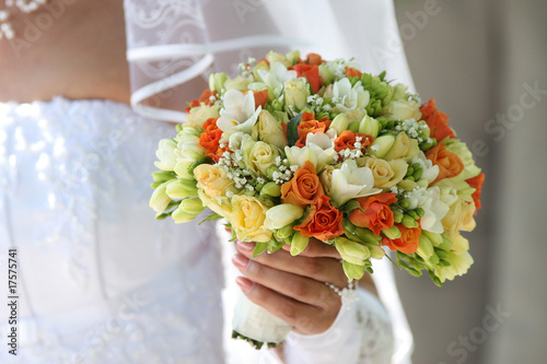 Multi-coloured bouquet 1.