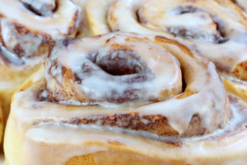 Extreme Close Up of Cinnamon Buns