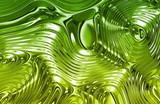 Fototapety Green Liquid Metal Texture
