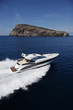 ITALY, Tirrenian sea, aerial view of luxury yacht 55'