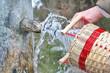 Leinwandbild Motiv sprudelndes Heilwasser
