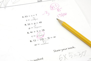 5th Grade Math Test