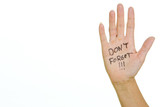 Reminder Note on Hand poster