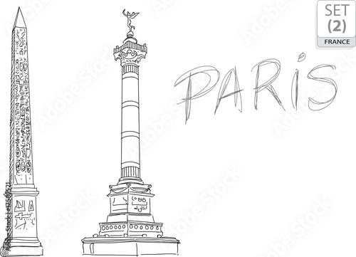 PARIS Touristique - (SET 2) rysunek - szkic