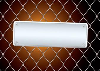 sign fence night