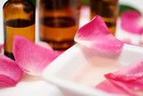 Massage oil from rose petals