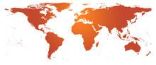Carte du monde naranja - planishère détaillé