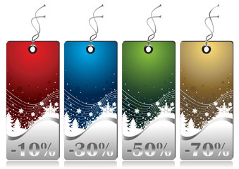 Shiny Winter Sales tags