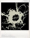 Vintage vector old photo card blot poster