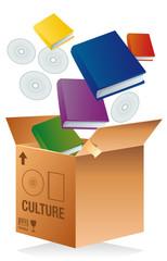 Carton de déménagement - culture