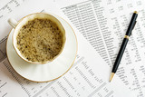Coffee and accounting. poster
