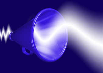 Megaphone amplifying voice