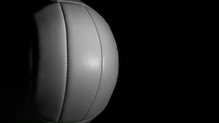 Volleyball against black with copy space loop - HD