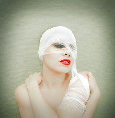 woman in bandage