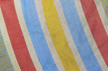 Colorful striped material pattern