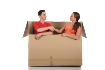 Chat box friends couple