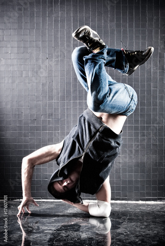 Young man modern dance