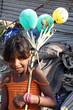 Beggar Girl with Balloons