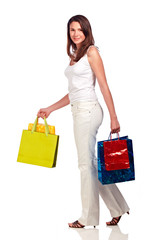 young woman on shoppingtour