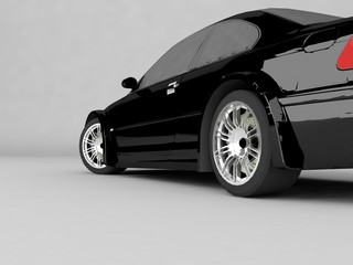 Sportcar isolated on gray background