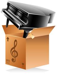 Carton de déménagement - piano