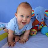 Fototapety Garde d'enfant - Assistante maternelle - bébé heureux