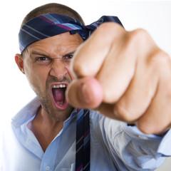 Hombre de Negocios Muy Enfadado