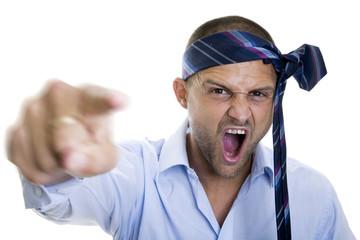 Hombre de Negocios Enfadado