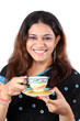 Indian Woman having Tea