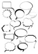 Speech And Thought Bubbles Set For Text
