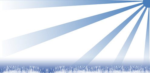 Paysage de reves - Bleu et blanc