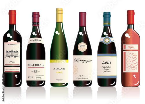 Lot de 6 bouteilles de vins de terroirs français