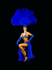 showgirl in full costume