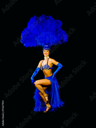 showgirl in full costume